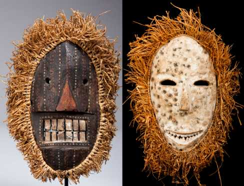 Two Ituri region masks