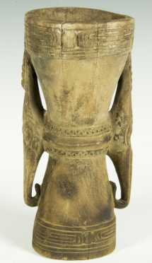 A fine Lower Sepik Mortar, New Guinea