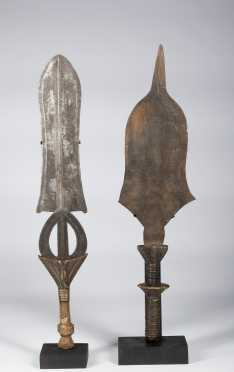 Two Central African swords