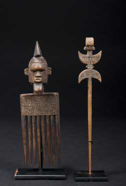 Two African hair ornaments