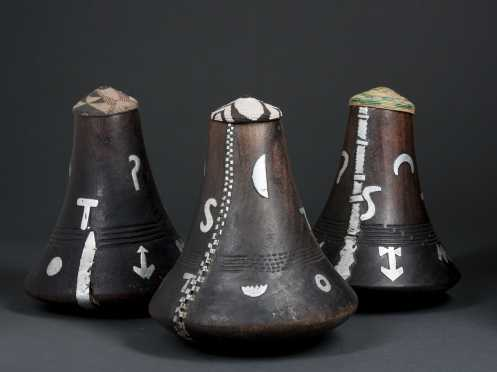 Three Hima milk pots