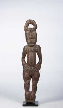 A Middle Sepik female figure, New Guinea