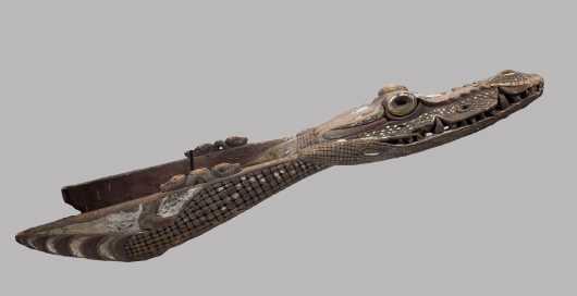 A Sepik River Crocodile canoe prow