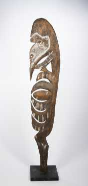 A fine Karawari hook figure, New Guinea