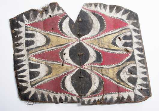 A Painted Washkuk palm panel, New Guinea