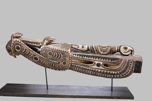 An Upper Sepik canoe prow, New Guinea