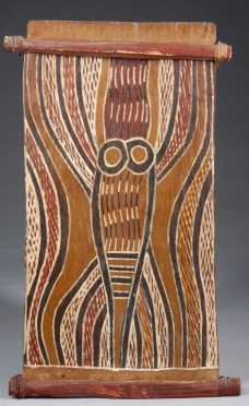 An Australian Aboriginal bark painting