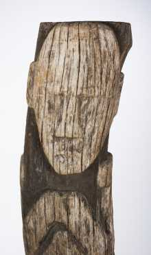 A Lake Sentani House post fragment, West New Guinea