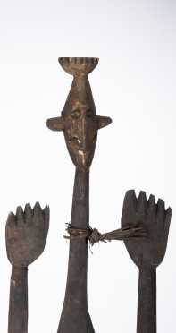 A fine and unusual Asmat figure, West new Guinea