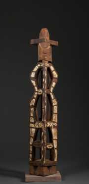 A fine Mimika hardwood figure, West new Guinea
