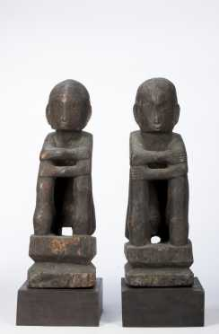 A Pair of Bulul figures, Philippines