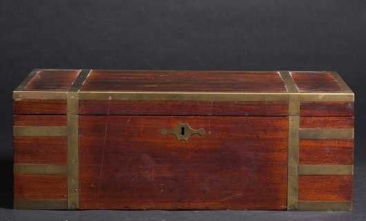 Camphored Brass Banded Desk Box,