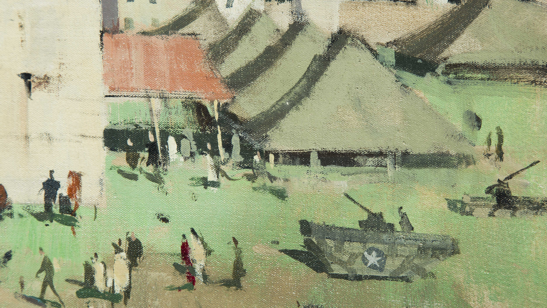 Paul Starrett Sample Painting Of Encampment In The