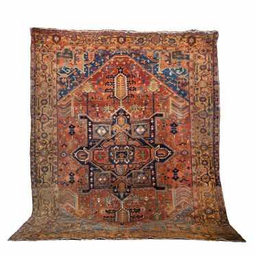 Antique Heriz Room Size oriental Rug,