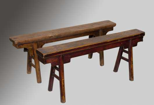 Two Similar Chinese Benches