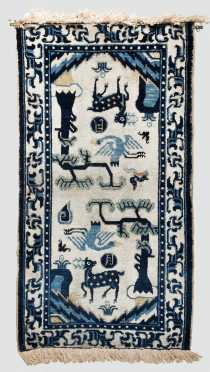 Chinese Pictorial Scatter Rug