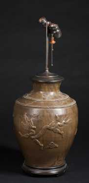Chinese Brown Pottery Jar