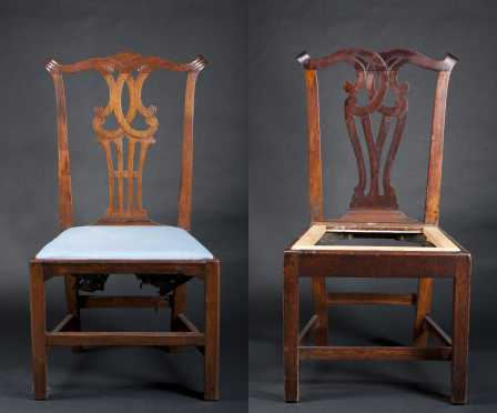 Two Similar Chippendale Side Chairs