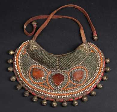 A Fine Tibetan Beaded  Collar