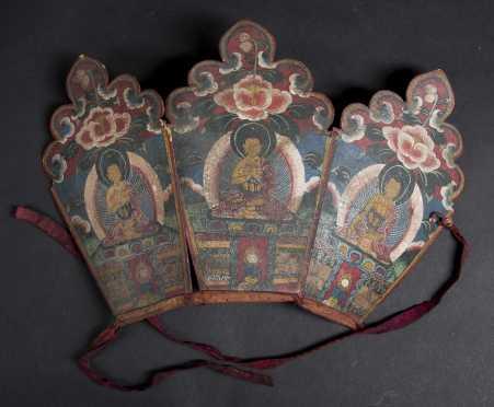 A Fine Tibetan three part Crown