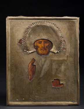 A Russian Icon of Saint Nicolai