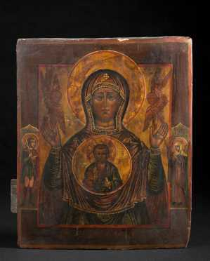 A Russian Icon of the Mother of God