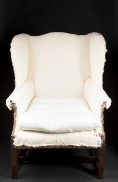 American Chippendale Wing Chair
