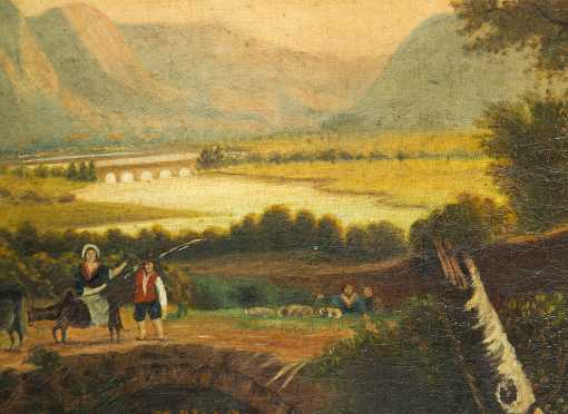Primitive Landscape of a Continental Scene