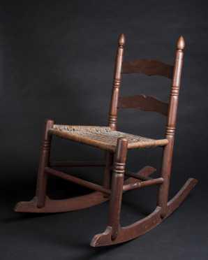 Shaker School Child's Walnut Rocking Chair