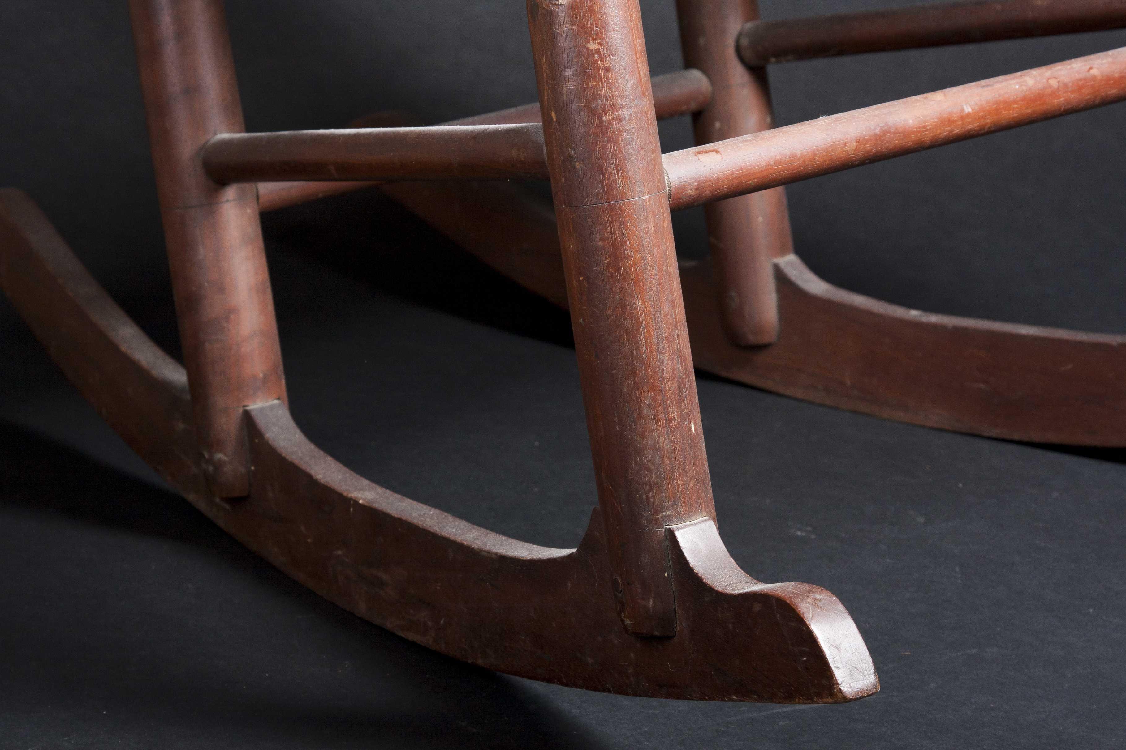 School Child s Walnut Rocking Chair