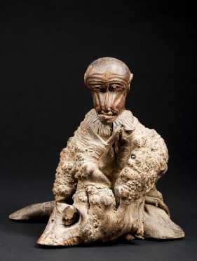 Japanese Root Carving of Hanuman