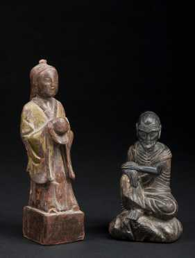 Two Japanese Wood Carvings