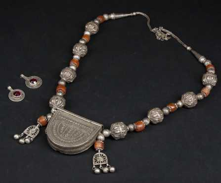 A Yemenite Necklace and Moroccan Earrings