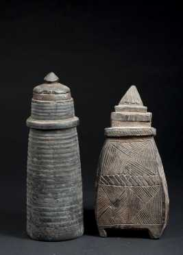 Two Tibetan Milk Containers