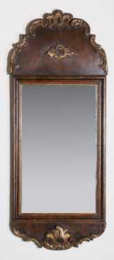 Tall Continental Queen Ann Mirror