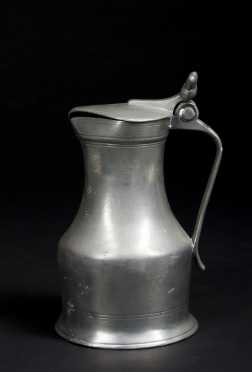 Continental Pewter Covered Pitcher