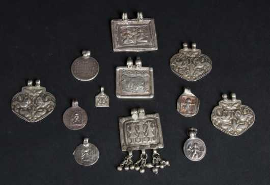 A Lot of Indian Silver Pendants