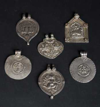 A Lot of Indian Silver Amulets