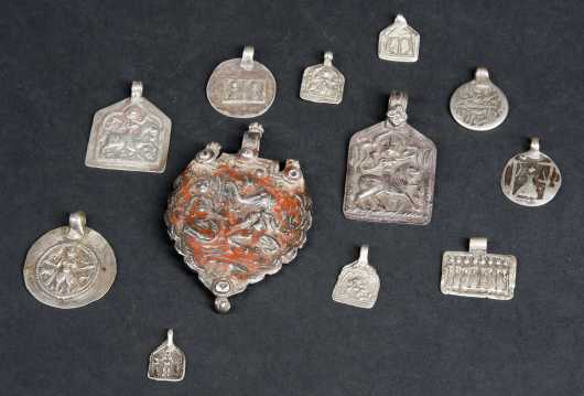Lot of Indian Silver Amulets