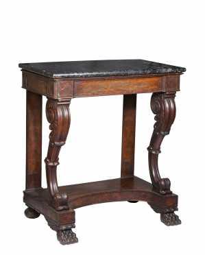Boston Mahogany Empire Pier Table
