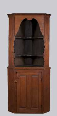 18th Century Pine Corner Cupboard
