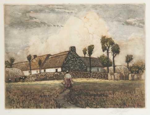 "Louis Oscar Griffith Aqua tint of ""Brittany Farm"""