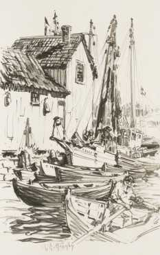 Lester George Hornby of a Harbor scene