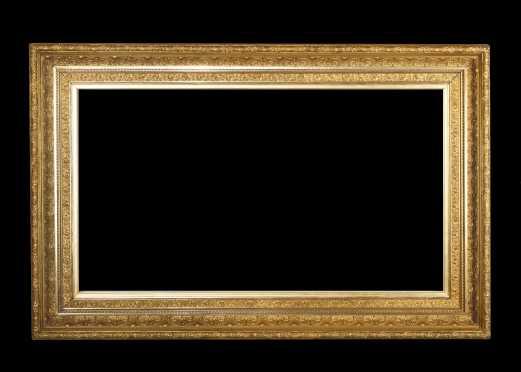Large Gold Gessoed Molded Frame,