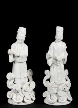 Pair of Chinese Blanc de Chine Figures