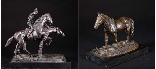 Lot of two bronzes, after Isidore Jules Bonheur