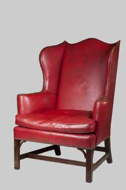 """""""Kittenger,"""" Chippendale Style Wing Chair"""