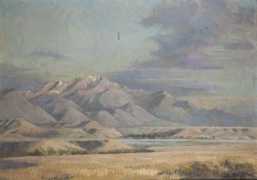 Eugene Kingman, Mt. Moran Landscape