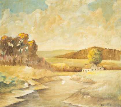 Landscape of a Country home