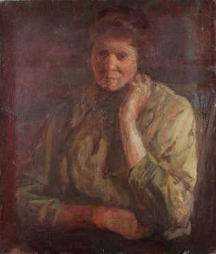School of George Benjamin Luks portrait